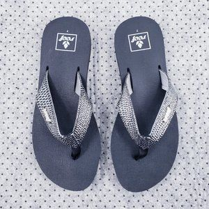 Reef Sequins Bling Sandal Flip Flops NEW - Size 7